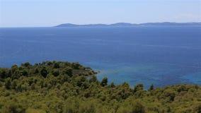 Beautiful coast of the peninsula Sithonia. stock video
