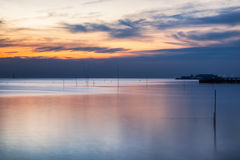 Beautiful coast sea tranquil at twilight Stock Photography