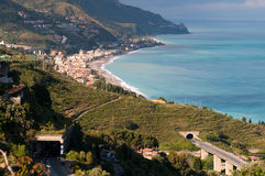 Beautiful coast of Sicily. Stock Photo