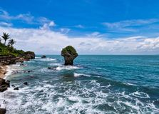 The beautiful coast of Taiwan stock photo