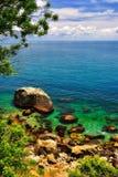 Beautiful coast of the tropical island Royalty Free Stock Photo