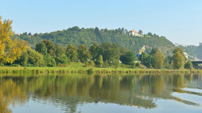 Beautiful coast of Vltava Royalty Free Stock Image