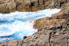 Beautiful coast and wave in Thailand Royalty Free Stock Photo