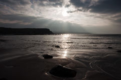Beautiful coastal beach seascape in the evening Stock Photography