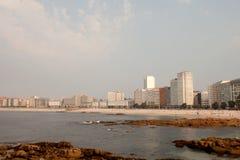 Beautiful coastal city in northwestern Spain stock photography