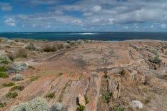 Leeuwin-Naturaliste National Park, Western Australia. Beautiful coastal landscape of Cape Leeuwin, Leeuwin-Naturaliste National Park, Western Australia royalty free stock photo