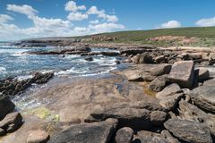 Leeuwin-Naturaliste National Park, Western Australia. Beautiful coastal landscape of Cape Leeuwin, Leeuwin-Naturaliste National Park, Western Australia stock photo