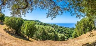 Beautiful coastal landscape at the Cilentan Coast, Campania, Italy Stock Images
