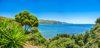 Beautiful coastal landscape at the Cilentan Coast, Campania, Italy Stock Image