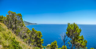 Beautiful coastal landscape at the Cilentan Coast, Campania, Italy Royalty Free Stock Photography