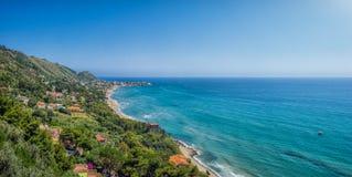 Beautiful coastal landscape at the Cilentan Coast, Campania, Italy Stock Photography