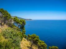 Beautiful coastal landscape at the Cilentan Coast, Campania, sou Stock Image