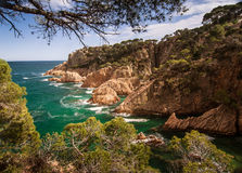 A beautiful coastal landscape of Mediterranean sea Royalty Free Stock Photography