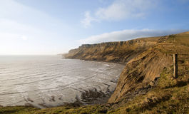 Beautiful coastal landscape at sunrise with cliffs Stock Photography