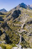 beautiful coastal road and landscape of Mallorca Royalty Free Stock Photography
