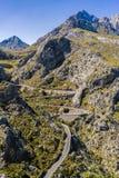 Beautiful coastal road and landscape of Mallorca Stock Photos