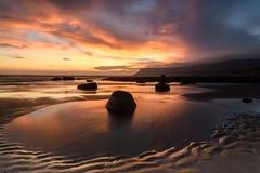 Beautiful Coastal Sunrise. Coastal Sunrise at Robin Hoods Bay, North Yorkshire, England royalty free stock images