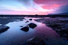 Beautiful Coastal Sunrise. Coastal Sunrise at Robin Hoods Bay, North Yorkshire, England royalty free stock photography