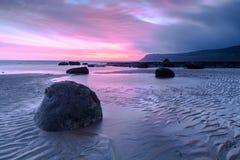 Beautiful Coastal Sunrise. Coastal Sunrise at Robin Hoods Bay, North Yorkshire, England stock photography
