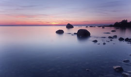Beautiful coastal sunset. Stock Images