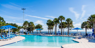 Beautiful Coastal Swimming Pool Stock Photos