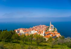 Beautiful Coastal Town. Beautiful Town on the Coast (Piran Royalty Free Stock Photography