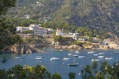 Beautiful coastal town in Begur, Costa Brava, Catalonia Stock Photos