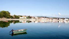 Beautiful coastal town Stock Images