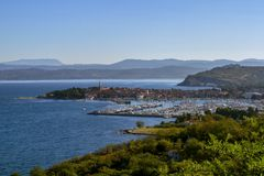 Isola is a small coastal town located on the Adriatic coast. Slovenia. stock images