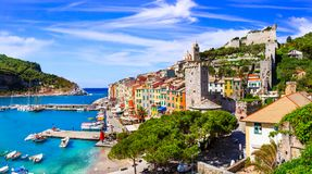 Free Beautiful Coastal Town Portovenere, Cinque Terre, Italy. Royalty Free Stock Images - 124688449