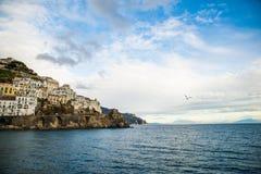 Amalfi Coast. Beautiful coastal towns of Italy - scenic Amalfi town. Famous destination location for tourists visiting Italy stock photo