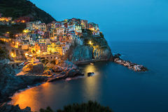 Beautiful coastal village Manarola, Liguria, Italy. Stock Image