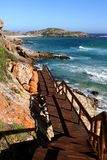 Beautiful Coastaline and Walkway in South Africa Stock Images