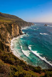 Beautiful Coastline along the Pacific in Big Sur,California Stock Images