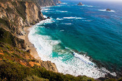 Beautiful Coastline along the Pacific in Big Sur,California Royalty Free Stock Photos