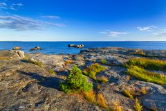 Beautiful coastline of Baltic sea. Sweden Stock Photo