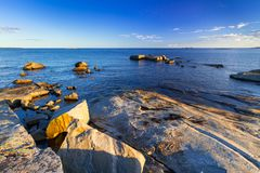 Beautiful coastline of Baltic sea. Sweden Royalty Free Stock Images
