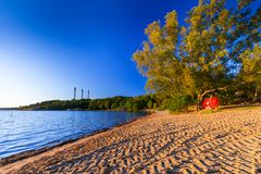 Beautiful coastline of Baltic sea. Sweden Royalty Free Stock Image
