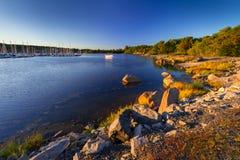 Beautiful coastline of Baltic sea. Sweden Royalty Free Stock Photo
