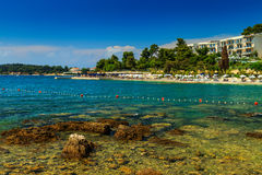 Beautiful coastline and beach,Rovinj,Istria region,Croatia,Europe Royalty Free Stock Image