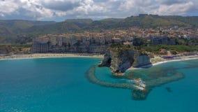 Beautiful coastline of Calabria in summer season royalty free stock photos