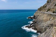 Beautiful coastline in Cinque Terre, Liguria Stock Photos