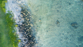 Beautiful coastline with clear sea water Royalty Free Stock Photos