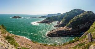 Beautiful coastline of Hyuga cape in Miyazaki, Kyushu. Beautiful coastline of Hyuga cape in Miyazaki, Kyushu Stock Image