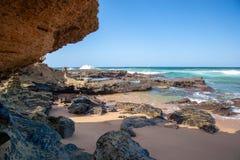 Umdloti Beach, Kwazulu Natal, South Africa. The beautiful coastline of Kwazulu Natal, South Africa stock photos