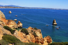Beautiful coastline in Lagos, Portugal Royalty Free Stock Photography