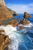 Beautiful coastline of Ligurian Sea Royalty Free Stock Photography