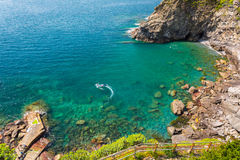 Beautiful coastline of Ligurian Sea Royalty Free Stock Image