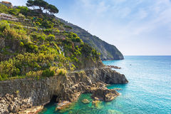 Beautiful coastline of Ligurian Sea Stock Images
