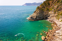 Beautiful coastline of Ligurian Sea Royalty Free Stock Photography